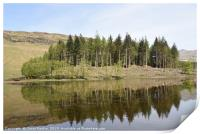 reflection on Loch Lubhair in the Highlands of Sco, Print
