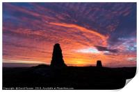 Beautiful Shepherds Sky Over the North Pennines, Print