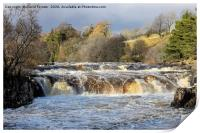 The River Tees at Low Force in Flood Conditions, T, Print