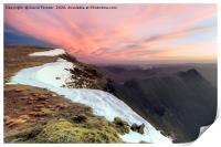 Striding Edge from Nethermost Pike at Dawn, Lake D, Print