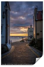 Staithes at sunrise, Print
