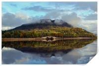 Autumn on Loch Shira, Print
