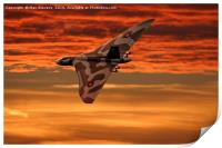 Vulcan into the sunset, Print