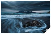 Lenticular clouds over the Isle of Rum , Print