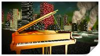 Piano as a symbol of defiance, Print