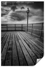Sitting on the end of the Pier, Print