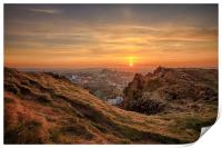 Sunset from the Crags, Edinburgh, Print