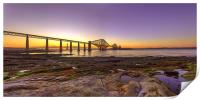 Sunset over the Forth Bridge, Print