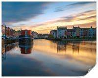 Colourful sunset over Leith, Print