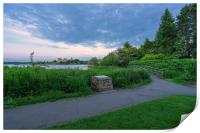 Blue hour over Linlithgow Loch and Palace, Print