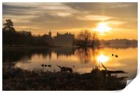 Golden hour over Linlithgow Palace, Print