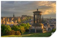 Edinburgh at Sunset from Calton Hill, Print