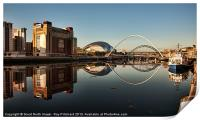 River Tyne Reflected, Print