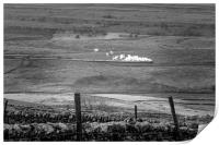 Steam trains in the yorkshire dales , Print