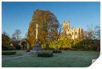 A touch of frost at Canterbury Cathedral , Print