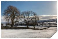Snow Covered Yorkshire Dales, Print