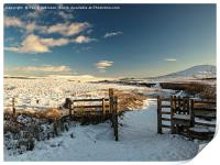 Ribble Valley and Pen-Y-Ghent, Print