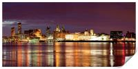 Liverpool Skyline Reflections from Woodside Panora, Print