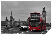 Red Bus and Big Ben, Print