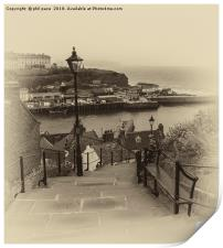 99 Steps at Whitby, Print