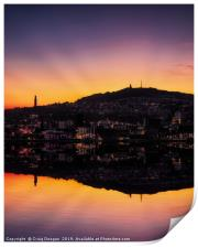 Dundee Sunset Reflections, Print