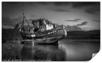 Corpach Boat Wreck, Print