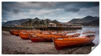 Rowing boats at Derwentwater, Print