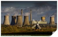 West Burton Power Station and Leverton Windmill, Print