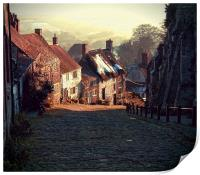 """Gold Hill     The """"Hovis"""" Hill       , Print"""