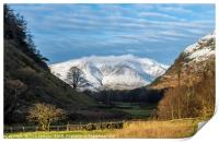 Blencathra from St Johns in the Vale Lake District, Print