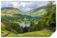 Dunmail Raise with Grasmere in the Middle Ground , Print