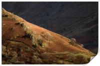 Troutbeck Valley Sun and Shade Lake District, Print