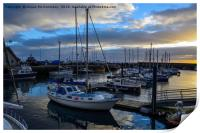 Sunset over Anstruther harbour, Print