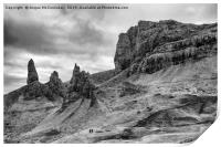 Old Man of Storr mono, Print