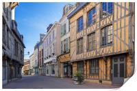 Troyes, France, Print