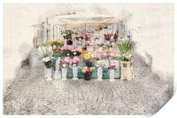 Warsaw Flower Seller, Print