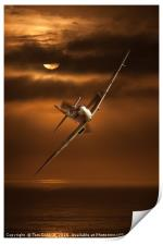 Incoming Spitfire, Print