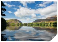 Reflections in Buttermere in Lake District, Print