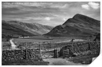 Buttermere in black and white, Print