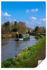 Cruising the canal, Print