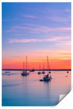 Sunset over Poole Harbour Yachts, Print