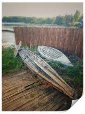 Rowing boats on the Lake Uvildy, Print