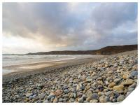 Newgale Beach in Winter., Print