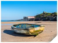 Boat on the North Beach, Tenby, Print