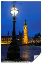 Houses of Parliament in London, Print