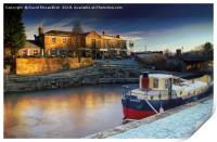 Dawn on Forth and Clyde Canal              , Print