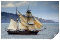 The Tres Hombres Leaving Torbay              , Print