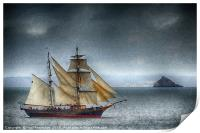 The Tres Hombres in Torbay (textured), Print