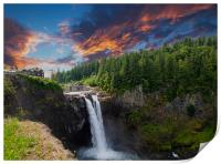 Snoqualmie Falls Early Morning, Print