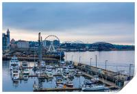 Early Morning on Seattle Waterfront, Print